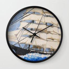 Vintage Ship #vintage #art Wall Clock