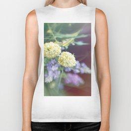 Garden blured flowers Biker Tank