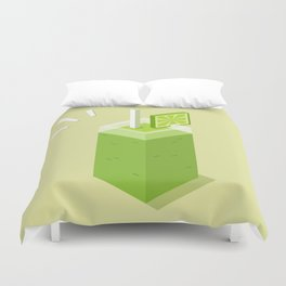 Green smoothie Duvet Cover