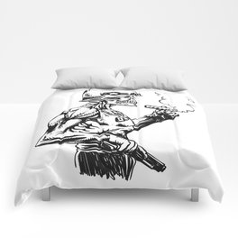 Military zombie - Skull military - zombie illustration Comforters
