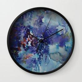Blue Wisteria Descending Wall Clock