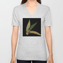Three Eucalyptus Leaves: A Minimalist Perspective Unisex V-Neck