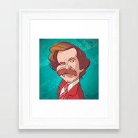 anchorman Framed Art Prints featuring Anchorman by nachodraws