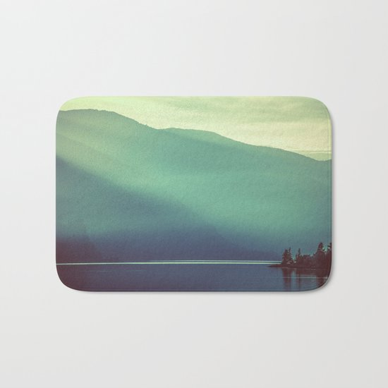 Summer at the Lake Turquoise Bath Mat