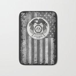 Faith Hope Liberty & Freedom Eagle on US flag Bath Mat