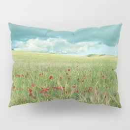 Spring poppies. Vintage Pillow Sham
