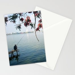 West Lake Fisherman II Stationery Cards