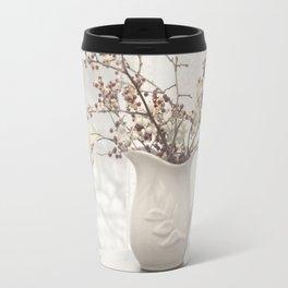 Berries in White Vase Travel Mug