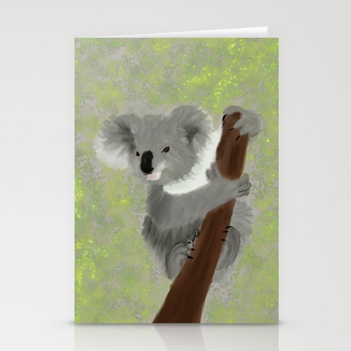 Koala Bear Hanging In There Stationery Cards