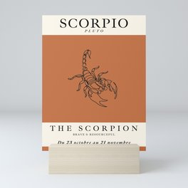 Minimalist Scorpio Mini Art Print