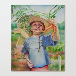 Little Gardener Canvas Print