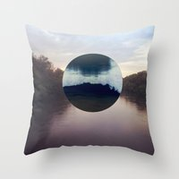 camp Throw Pillows featuring Camp by Oscar Joyo