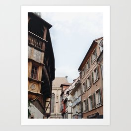 Streets of Alsace Art Print