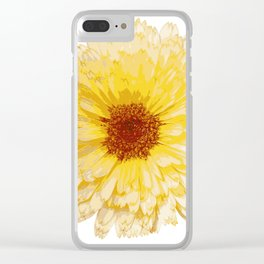 Beautiful Yellow Marigold Vector Isolated Clear iPhone Case