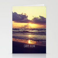 carpe diem Stationery Cards featuring Carpe Diem by Libertad Leal Photography