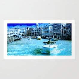 Venice Rialto Bridge and Canale Grande Art Print