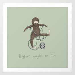 Bigfoot Caught on Film Art Print