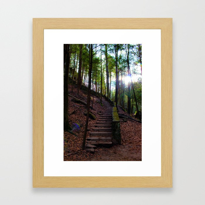 The Staircase to... Framed Art Print