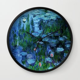 Claude Monet Water Lilies / Nymphéas deep Wall Clock