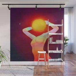Sun Goddes Wall Mural