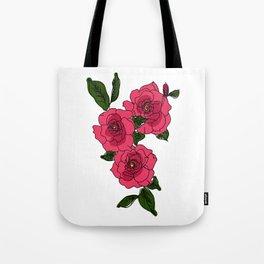 Red Gardenias Tote Bag