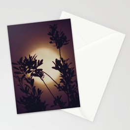 Moon in Blackberry Cream Stationery Cards
