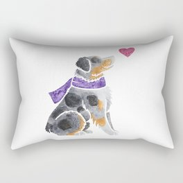 Watercolour Australian Shepherd (merle) Rectangular Pillow