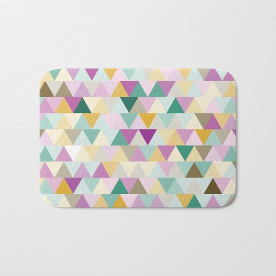 Triangles Colorful Pattern Bath Mat