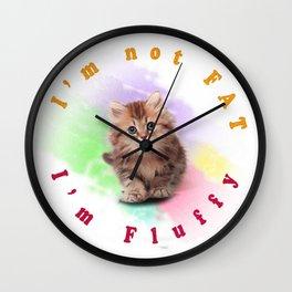 Fluffy Cat Wall Clock