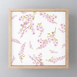 Cherry Blossoms floral Framed Mini Art Print