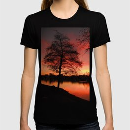 Sunset Lake. © J. Montague. T-shirt