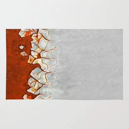 Rust and Grey Rug