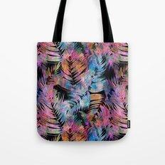 Waikiki Tropic {Black} Tote Bag