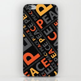 Peace....no more wars iPhone Skin