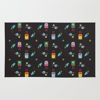 cyclops Area & Throw Rugs featuring CYCLOPS BLACK by Sofia Verger