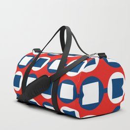 Bead Pattern - Red White & Blue Duffle Bag