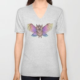 Marvelous Things - Bat with Butterfly Wings Unisex V-Neck