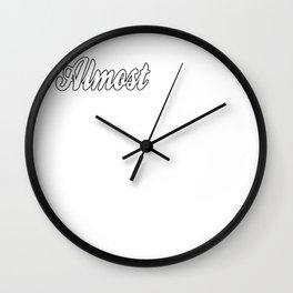 Funny College Senior Wall Clock