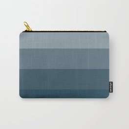 Minimal Retro Sunset / Sunrise - Ocean Blue Carry-All Pouch