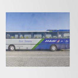 Malev Airlines Bus Throw Blanket