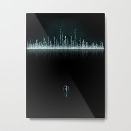 TRON CITY Metal Print