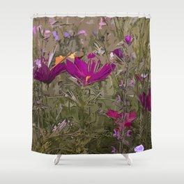 Wild Flowerbed 3 Shower Curtain