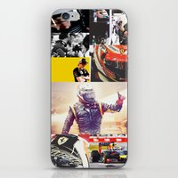 formula 1 iPhone & iPod Skins featuring Formula 1 Collage by Rassva