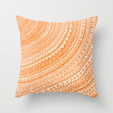 Orange Pulse o3. Throw Pillow