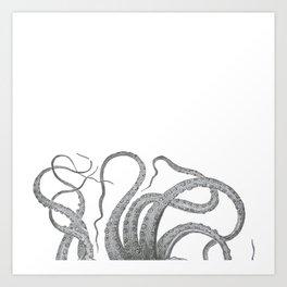 Vintage kraken octopus tentacles nautical antique sea creature steampunk graphic print Art Print