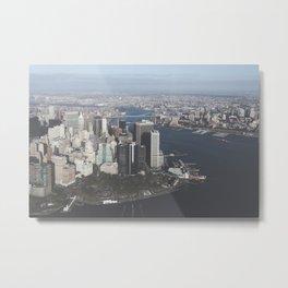 NYC Downtown Aerial Metal Print