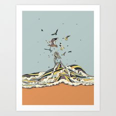 WALK ON THE OCEAN Art Print