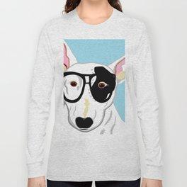Hipster Bull Terrier Long Sleeve T-shirt