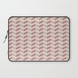 Beige and Pink Chevron Laptop Sleeve