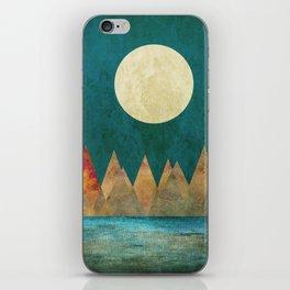 Still Waters Run Deep, Mountains Moon Landscape iPhone Skin